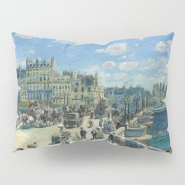Pont Neuf Paris Painting by Auguste Renoir Pillow Sham