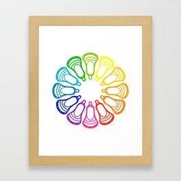 Lacrosse Spectrum Framed Art Print