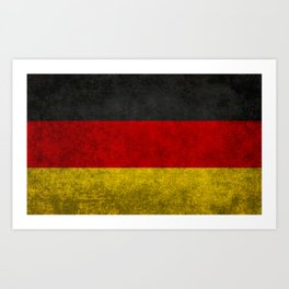 Flag of Germany - Vintage version Art Print