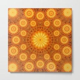 Sun Orb Mandala Metal Print