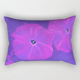 Fuchsia Petunias Rectangular Pillow