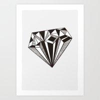 diamond Art Prints featuring Diamond by Galitt