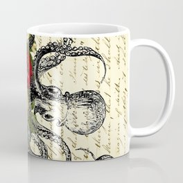 Octopus Attacking Flowers Coffee Mug