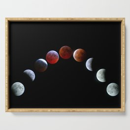 Moon Phases (Blood Moon) Serving Tray