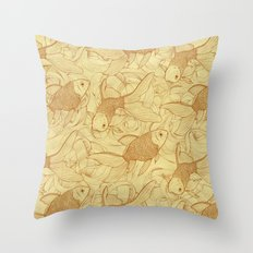 Vintage Goldfishes II Throw Pillow