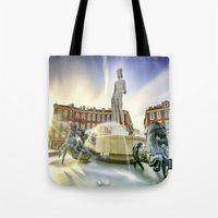 apollo Tote Bags featuring Oh Apollo! by ExperienceTheFrenchRiviera
