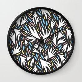 Cut Paper Pattern Wall Clock