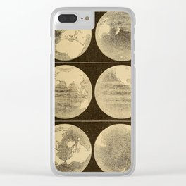 Astronomy for the Use of Schools and Academies (1882) - Different Appearances of the Earth by Season Clear iPhone Case