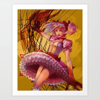 madoka Art Prints featuring Madoka by Raphaelle