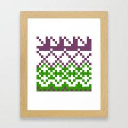 Fair Isle Sweater Pattern by Lorlove Design Framed Art Print