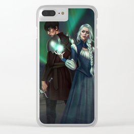 Snow Queen Sacrifice by K.M. Shea Book Cover Clear iPhone Case