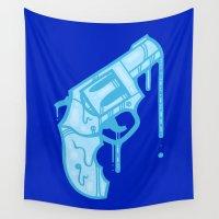 gun Wall Tapestries featuring Water Gun by Artistic Dyslexia