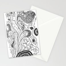 Geometric Stream Stationery Cards