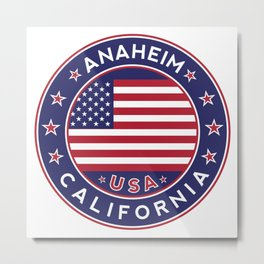 Anaheim, California Metal Print