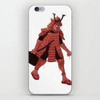 samurai iPhone & iPod Skins featuring Samurai by edusá studio