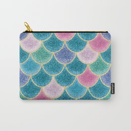 Glittery Mermaid Scales Carry-All Pouch
