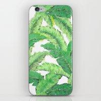 banana leaf iPhone & iPod Skins featuring Banana for banana leaf by Indulgencedecor