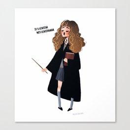 wingardium leviosa - hermione Canvas Print
