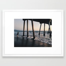 Hermosa Pier Framed Art Print