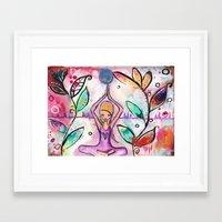 yoga Framed Art Prints featuring Yoga by SannArt