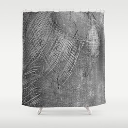 textured jute fabric for background and texture Shower Curtain