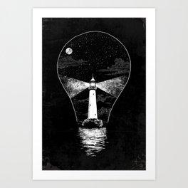 Light (Bulb) House Art Print