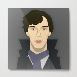 Watching The Detectives #2: Holmes (Close Up) Metal Print