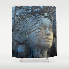 Dissolution of Ego Shower Curtain
