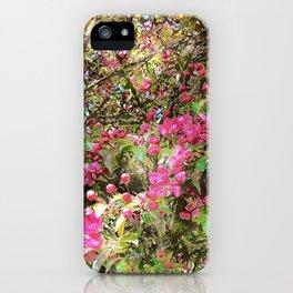 Springtime, purple blossoms iPhone Case
