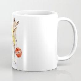 Traffic Controller Deer in High Visibility Vest Coffee Mug