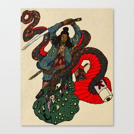 Jiraiya Samurai Canvas Print
