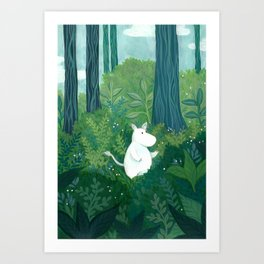 Moomintroll in the Forest Art Print