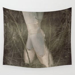 Vintage Film Ballet slippers Wall Tapestry