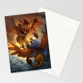 Pet Battle Stationery Cards