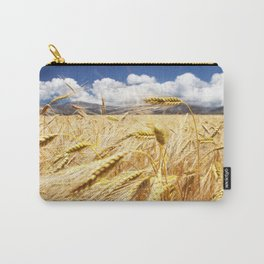 Greece. Crete. Golden field. Yellow field in the mountains of Greece. Carry-All Pouch