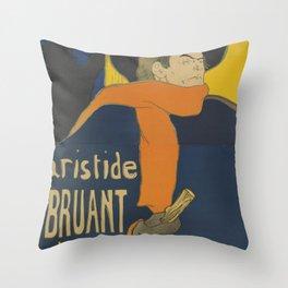 "Henri de Toulouse-Lautrec ""Eldorado: Aristide Bruant"" Throw Pillow"