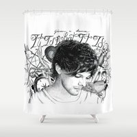tattoos Shower Curtains featuring Tattoos - L by wreckthisjessy