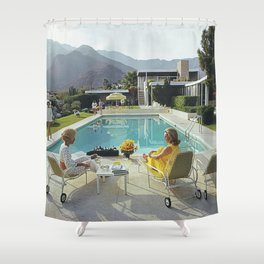 Poolside Gossip Shower Curtain