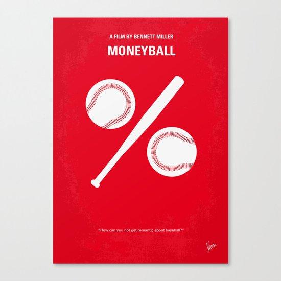 No191 My Moneyball minimal movie poster Canvas Print