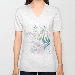botanical, tropical leaf Unisex V-Neck