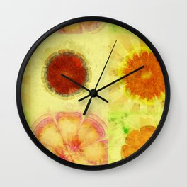 Hyperaeolism Content Flowers  ID:16165-130047-55630 Wall Clock
