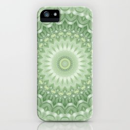 Spring Mandala in Green, Yellow and White iPhone Case