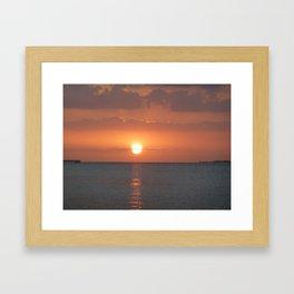 Bokeelia Sunset Framed Art Print