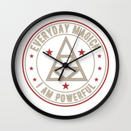 I Am Powerful activated magickal sigil tshirt gift Wall Clock