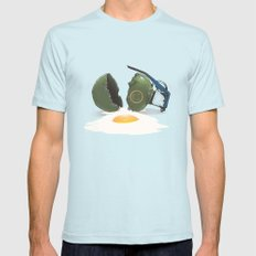 Eggsplosion Light Blue SMALL Mens Fitted Tee
