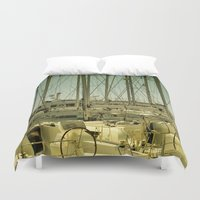 marina Duvet Covers featuring marina by gzm_guvenc