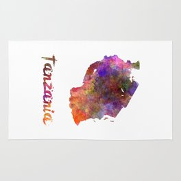 Tanzania  in watercolor Rug