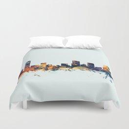 Grand Rapids Michigan Skyline Duvet Cover