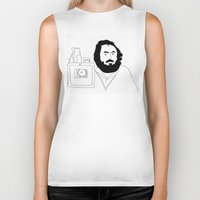 kubrick Biker Tanks featuring Stanley Kubrick by Sector 8