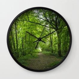 Green Pathway Wall Clock